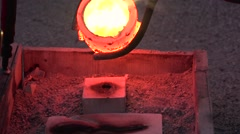 Pouring bronze 3 Stock Footage