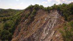 Aerial view over Salt mountain used for mining exploitation - stock footage