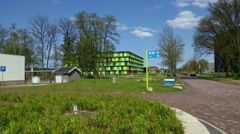 Wageningen University campus, exterior Radix building for Plant Research Stock Footage