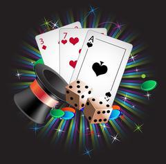 Gambler attributes Stock Illustration