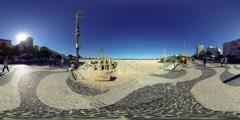 Rio de Janeiro, Brazil: People enjoy sand sculpture Stock Footage