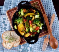 Colorful Vegetables Ragout Stock Photos