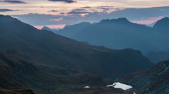 Mountains at sunrise - stock footage