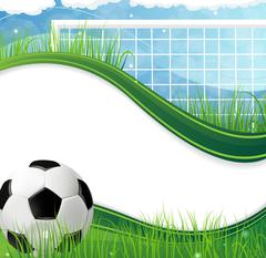 Soccer gate and ball Stock Illustration