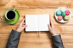 Coffee break as refreshment - stock photo