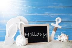 Sunny Summer Card With Holiday - stock photo