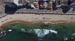 Top view of Porto da Barra Beach, Bahia, Brazil Stock Footage