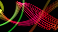 Ribbons From Heaven Beautiful Colorful Looped Background Full HD Pink Red Stock Footage