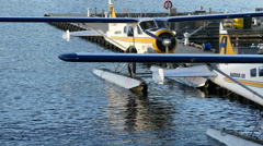 Small airplane on water Vancouver Stock Footage