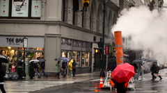 Dreary New York Scene Stock Footage