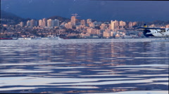 Sunset skyline  view North Vancouver  BC , Canada. Stock Footage
