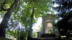 Marble Palladian Bridge, or Siberian Marble gallery. Catherine Park. Pushkin Stock Footage