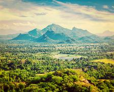 Sri Lankan landscape - stock photo