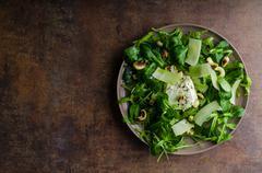 Fresh salad bio - stock photo