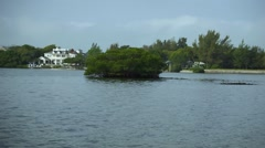 Mangrove Island With Mansion in the Background Stock Footage