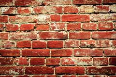 Abstract red brickwork Stock Photos