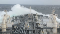 Ships bow against sea waves Stock Footage