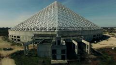 Rome - Vela designed by Spanish architect Santiago Calatrava, aerial N. Stock Footage