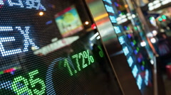 Trading Board - stock footage
