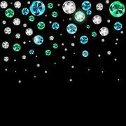 Abstract Luxury Black Diamond Background Vector Illustration - stock illustration