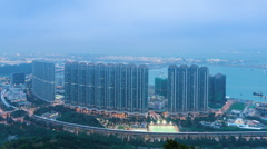 Tung Chung Apartments Stock Footage