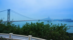 Tsing Ma bridge Stock Footage