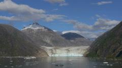 Sawyer Glacier Tilt Down From Sky, AK Stock Footage