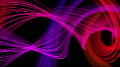 Heavenly Feathers of Peacock Abstract Motion Background Loop Pink Violet Stock Footage