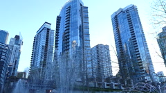 Business district Vancouver Canada Stock Footage