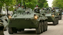 Russian Military Armored Personnel Carriers Stock Footage