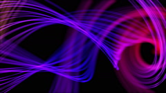 Heavenly Feathers of Peacock Abstract Motion Background Loop Purple Magenta Stock Footage