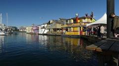 Landmark Victoria, Fisherman's wharf  Canada Stock Footage