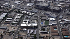 Las Vegas industrial area of downtown aerial wide angle view 4k Stock Footage