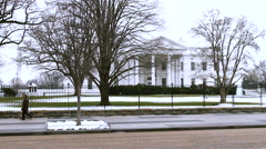 The White House WS with GAMMA  Filter Stock Footage