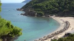 Agistros beach of Skiathos Island in Greece Stock Footage