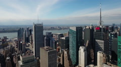 Slow ascent Viewing Upper East Side - stock footage