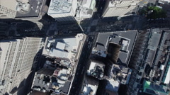 NYC Aerial Overhead Shot Of Traffic in Midtown - stock footage