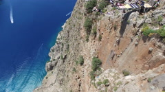 Base Jumpers at Butterfly Valley Stock Footage
