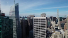 Midtown Aerial NYC Slight Ascension With 432 Park Ave In Background - stock footage