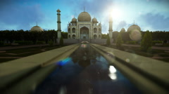Taj Mahal on a beautiful morning Stock Footage