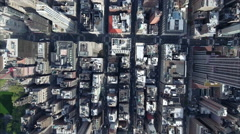 NYC Zoom Down on Condos Midtown Aerial Stock Footage
