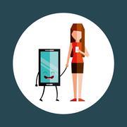 addiction to cell design - stock illustration