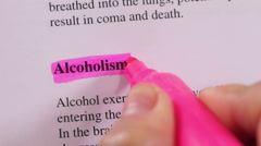 Medical Condition Highlight Alcoholism - stock footage