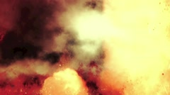 Inside of a Volcanic Eruption Between Flames, Fire and Smoke - stock footage