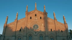 Santa Maria Del Carmine church in Pavia, PV, Italy Stock Footage