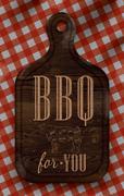 Poster bbq for you dark - stock illustration
