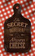 Poster secret ingredient dark - stock illustration