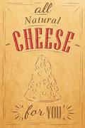 Poster all cheese kraft Stock Illustration
