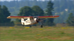 1931 Stinson SM-8A Take Off WS Stock Footage