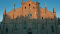 Santa Maria Del Carmine church in Pavia, PV, Italy, tilt shot Stock Footage